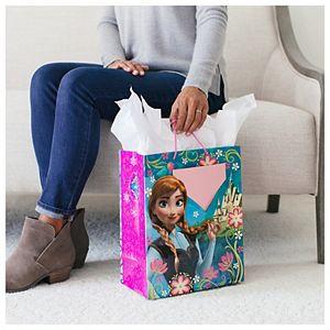 Hallmark Large Disney Frozen Anna & Elsa Gift Bag with Birthday Card & Tissue Paper