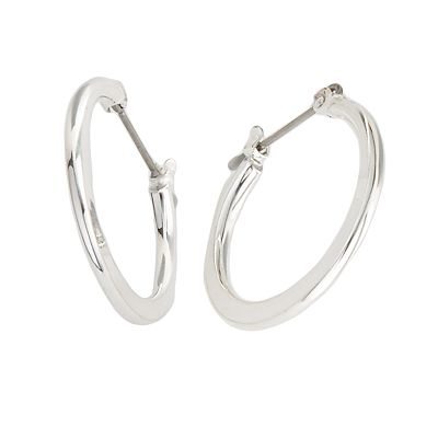 Croft and Barrow Silver Tone Hoop Earrings