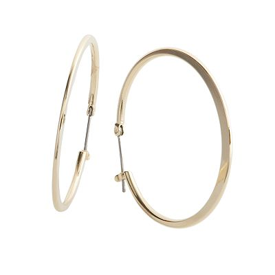 Croft and Barrow Gold Tone Hoop Earrings