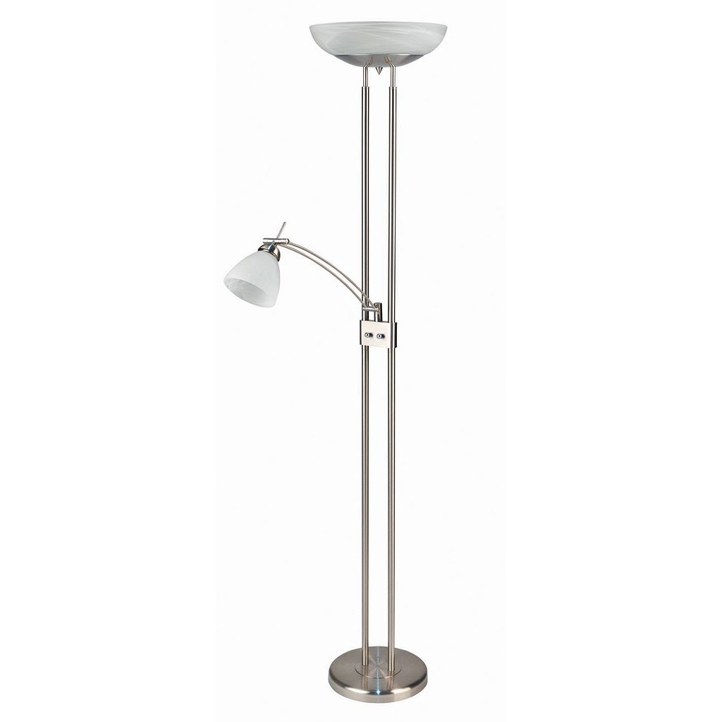 Torchiere Combination Floor Lamp & Reading Lamp