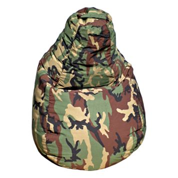 Camouflage Teardrop Beanbag Chair