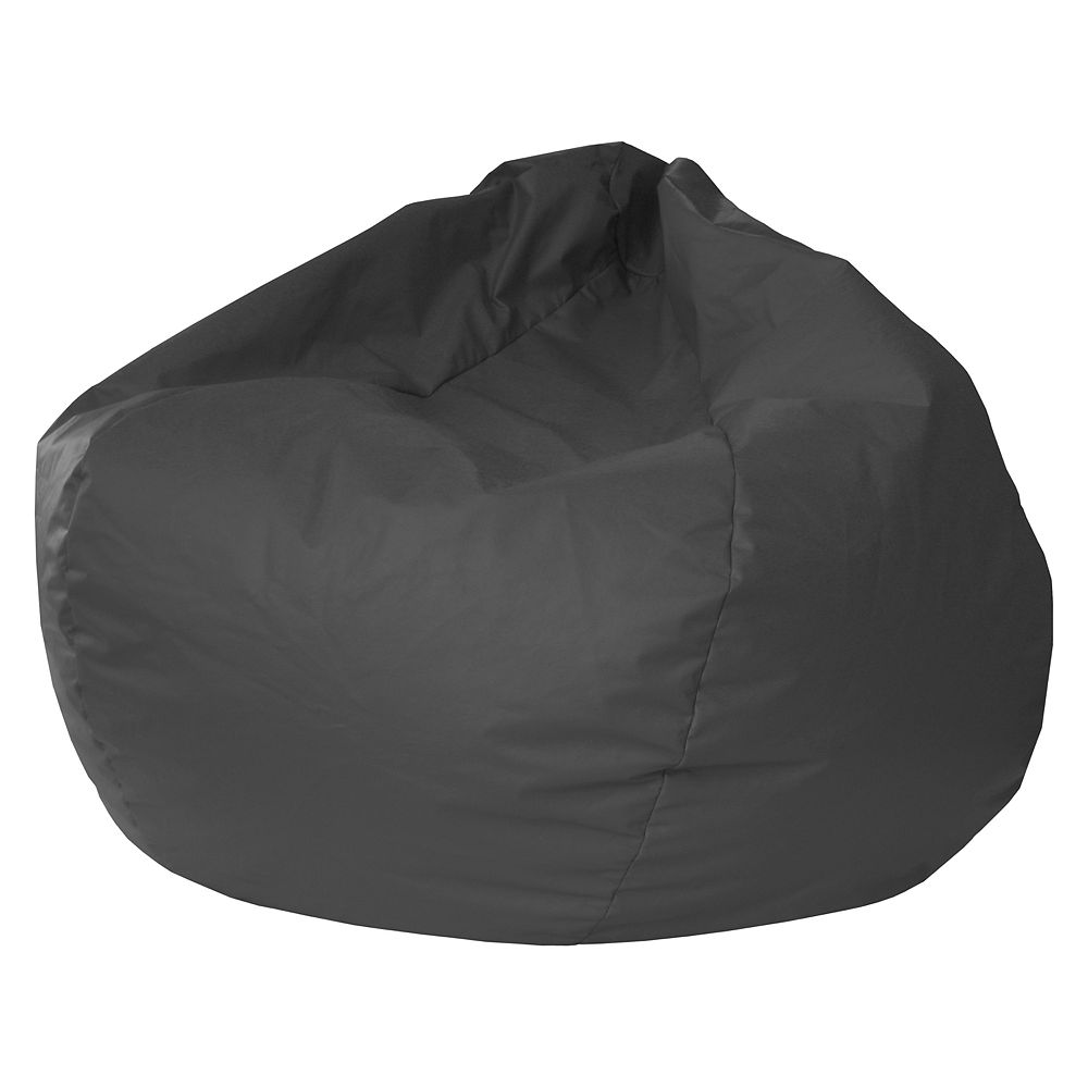 Jumbo Faux-Leather Beanbag Chair - Faux-Leather Beanbag Chair