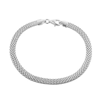 Sterling Silver Tulipano Mesh Bracelet