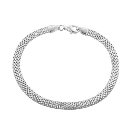 Sterling Silver Tulipano Mesh Bracelet