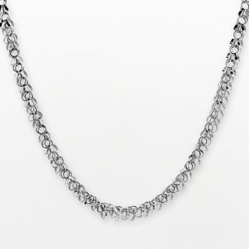 Sterling Silver Cluster Link Necklace