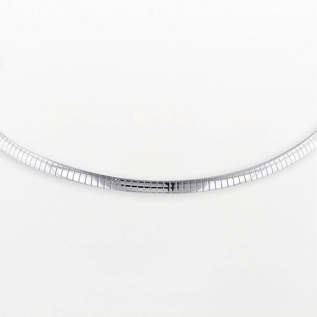 Sterling Silver Omega Necklace
