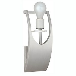 Philips Forecast James One Light Bathroom Wall Light, Satin Aluminum