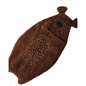 Asweets Kid's Unisex Cute Cozy Animal Brown Bear Sleeping Bag for Ages 3 and Up