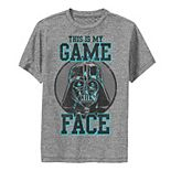 Boys 8-20 Star Wars My Game Face Darth Vader Poster Performance Graphic Tee