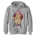 Boys 8-20 Star Wars Ewok Love Will Endor Valentine's Graphic Fleece Hoodie