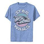 Boys 8-20 Star Wars Vintage Falcon Logo Performance Graphic Tee
