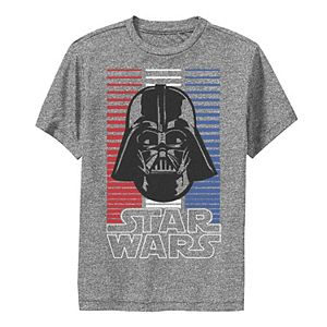 Boys 8-20 Star Wars Darth Vader Red White & Blue Stripes Performance Graphic Tee