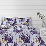 Azores Home Serena Printed Oversized Duvet Set with Shams