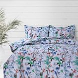 Azores Home Chloe Printed Oversized Duvet Set with Shams