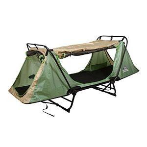 Kamp-Rite Original Portable Versatile Cot, Chair, & Tent, Easy Setup, Green/Tan