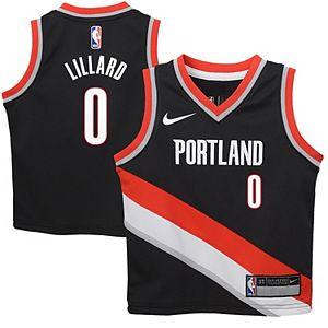 Toddler Nike Damian Lillard Black Portland Trail Blazers Replica Jersey - Icon Edition
