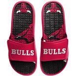 Men's FOCO Chicago Bulls Wordmark Gel Slide Sandals
