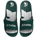 Men's FOCO Michigan State Spartans Wordmark Gel Slide Sandals