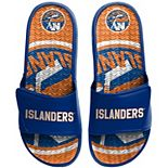 Men's FOCO New York Islanders Wordmark Gel Slide Sandals