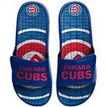 Men's FOCO Chicago Cubs Wordmark Gel Slide Sandals