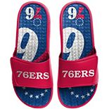 Men's FOCO Philadelphia 76ers Wordmark Gel Slide Sandals