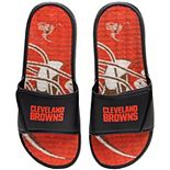Men's FOCO Cleveland Browns Wordmark Gel Slide Sandals