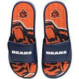 Men's FOCO Chicago Bears Wordmark Gel Slide Sandals