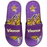 Men's FOCO Minnesota Vikings Wordmark Gel Slide Sandals