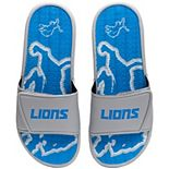 Men's FOCO Detroit Lions Wordmark Gel Slide Sandals