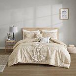 Intelligent Design Tory Printed Chenille Trim Comforter Set with Shams