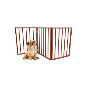 Petmaker 80-62875-M Foldable & Free-Standing Wooden Pet Gate, Light Brown