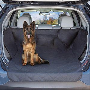 Petmaker 80-PET6045 Cargo Liner Dog Waterproof Seat Cover with Non-Slip Trunk Pet Travel Mat, Black