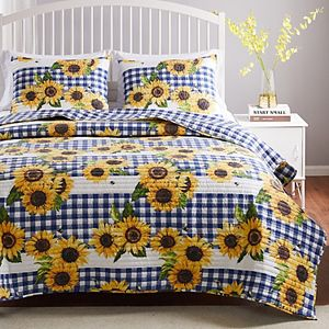 Barefoot Bungalow Sunflower Quilt Set with Shams