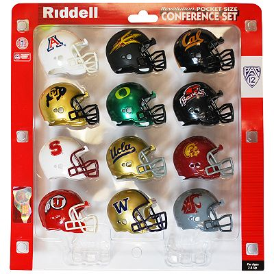 Riddell Pac 12 Conference Pocket-Size Helmet Set