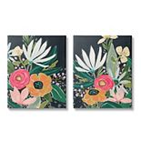 Stupell Home Decor Abstract Tropical Florals Canvas Wall Art 2-piece Set
