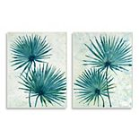 Stupell Home Decor Abstract Palm Fans Plaque Wall Art 2-piece Set