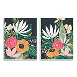 Stupell Home Decor Abstract Tropical Florals Plaque Wall Art 2-piece Set