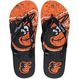 FOCO Orange Baltimore Orioles Big Logo Flip Flop Sandals