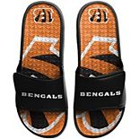 Men's FOCO Cincinnati Bengals Wordmark Gel Slide Sandals