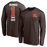 Men's Fanatics Branded Brown Cleveland Browns #1 Dad Long Sleeve T-Shirt