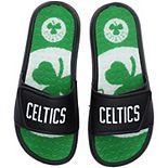 Men's FOCO Boston Celtics Wordmark Gel Slide Sandals