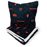 Chicago Bears 2-Pack Flannel Arrow Repeat Blanket and Pillow Set