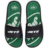 Men's FOCO New York Jets Wordmark Gel Slide Sandals