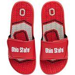 Men's FOCO Ohio State Buckeyes Wordmark Gel Slide Sandals