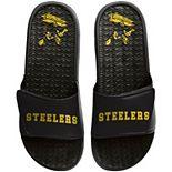 Men's FOCO Pittsburgh Steelers Retro Gel Slide Sandals