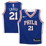 Toddler Nike Joel Embiid Blue Philadelphia 76ers Replica Jersey - Icon Edition