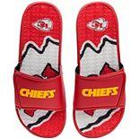 Men's FOCO Kansas City Chiefs Wordmark Gel Slide Sandals