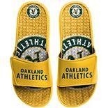Men's FOCO Oakland Athletics Wordmark Gel Slide Sandals