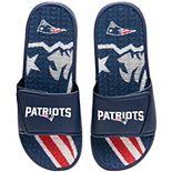 Men's FOCO New England Patriots Wordmark Gel Slide Sandals