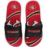 Men's FOCO San Francisco 49ers Wordmark Gel Slide Sandals